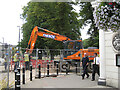 SP3165 : Life goes on amid the sewer improvements, Leamington by Robin Stott