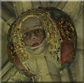 ST9387 : Malmesbury Abbey - Roof Boss by Colin Smith