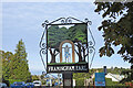 TG2603 : Framingham Earl village sign by Adrian S Pye