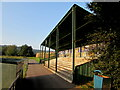 SO5012 : Stand in Monmouth Sports Ground by Jaggery