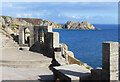 SW3822 : Minack Theatre and Logan Rock by Des Blenkinsopp