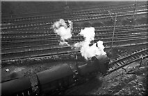 SJ3890 : Fireless loco at Crawford's biscuit factory – 1965  - 6 by Alan Murray-Rust
