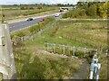 SK6840 : Footpath down from the bridleway bridge by Alan Murray-Rust