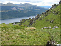NN2400 : Hillside of Cnoc Coinich toward Loch Long by Chris Wimbush