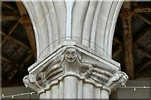 ST0207 : Cullompton, St. Andrew's Church: Nave capital 5 by Michael Garlick