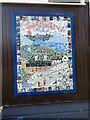 SH8076 : Mosaic - Ysgol Glan Conwy - a closer look by Richard Hoare