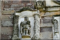 ST0207 : Cullompton, St. Andrew's Church: Sculptures on the west face of the tower 1 by Michael Garlick