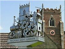 TF5017 : Walpole St. Andrew village sign by Adrian S Pye