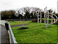 SS8983 : Exercise equipment and children's play area in Tondu by Jaggery