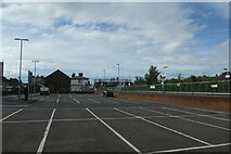 SJ2473 : Car park at Flint station by DS Pugh