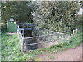 SZ5383 : Budbridge river gauging station, near Godshill by Malc McDonald