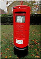 ST3091 : Bilingual Priority Postbox labels on a pillarbox, Malpas, Newport by Jaggery
