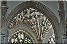 ST0207 : Cullompton, St. Andrew's Church: Fan vaulting in the south aisle by Michael Garlick