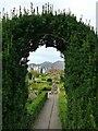 NY2623 : Hope Park, Keswick: topiary arch by Stephen Craven