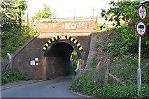 TQ5941 : Low, narrow bridge, North Farm Rd by N Chadwick