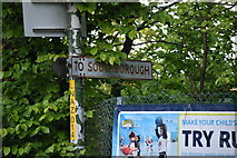 TQ5941 : Roadsign, junction of Highfield Rd and North Farm Rd by N Chadwick