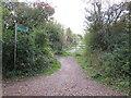 SZ5093 : Shared path near Cowes by Malc McDonald