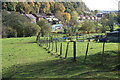 SO1202 : Route of footpath to Glyn Derw, Deri by M J Roscoe
