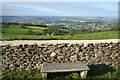 ST7367 : Bench, Wall and View by Des Blenkinsopp