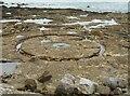 NO6309 : Sea beacon construction yard by Richard Sutcliffe