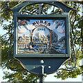 TL9034 : Bures Hamlet 'village' sign by Adrian S Pye