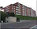 SH8479 : Multistorey block of flats above the Promenade, Colwyn Bay by Jaggery