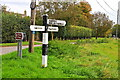 ST8985 : Signpost, Foxley, Wiltshire 2020 by Ray Bird