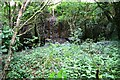 SK3678 : Culvert and gate to former sports ground from Firth Wood by Luke Shaw