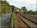 SD4178 : Train entering Grange-over-Sands station by Stephen Craven