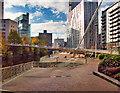 SJ8398 : Salford Riverside, Trinity Bridge by David Dixon