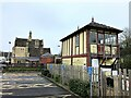 TF0206 : Stamford station and the old signal box by Richard Humphrey