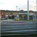 SJ9399 : Demolishing the old bus station by Gerald England