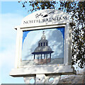TG2830 : North Walsham Town sign (south face) by Adrian S Pye