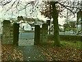 SE2039 : Micklefield Park, Rawdon Crossroads entrance by Stephen Craven