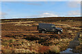 SD9957 : Lonely vehicle upon Rylstone Fell by Chris Heaton