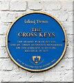 SJ7798 : Blue plaque: Cross Keys by Gerald England