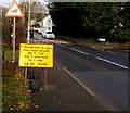 ST3293 : Outdated temporary sign in Ponthir, Torfaen by Jaggery