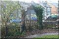 SO2701 : Defunct gateway, Pontnewynydd Park by M J Roscoe