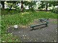 SE2338 : Balancing beams, Horsforth Hall Park by Stephen Craven