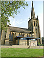 SE1731 : St John's church, Bowling, Bradford - north side and spire by Stephen Craven