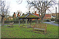 TM1979 : Village pump and shelter at Thorpe Abbotts by Adrian S Pye