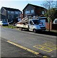 ST3090 : SMB scaffolding lorry, Malpas, Newport by Jaggery