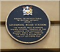 SJ8297 : Liverpool Road Station Plaque by Gerald England