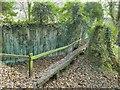 SE1744 : Clapper bridge on a footpath over Ellar Ghyll by Stephen Craven