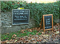 SX8548 : Signs at Riversbridge by Derek Harper
