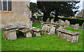 ST8380 : Chest Tombs, All Saints Church, Littleton Drew, Wiltshire 2020 by Ray Bird