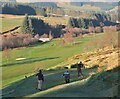 NT3338 : A scenic golf course, Innerleithen by Jim Barton