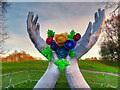 SD8304 : Hands and Flowers, Lightopia at Heaton Park by David Dixon