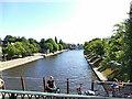 SE5952 : River Ouse towards Lendal Bridge by Stephen Craven