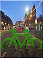 SK3587 : Cycle racks on Pinstone Street by Graham Hogg